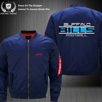 Dropshipping USA Size MA-1 Jacket Football Team Buffalo Bills Men Flight Jacket Custom Design Printed Bomber Jacket made Men