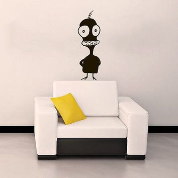 WALL VINYL STICKER CHILDREN'S DECALS MURAL FUNNY MONSTER IN THE NURSERY SV2025
