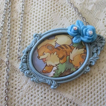 Pokémon - GROWLITHE - Pokémon Trading Card Necklace - Gamer Gear