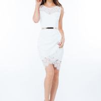 Fancy Frills Lacy Bodycon Dress