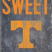 "Tennessee Volunteers Wood Sign - Home Sweet Home 6""x12"""