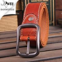 Cow genuine leather belt men luxury buckle belts for men strap male pin buckle