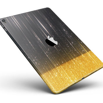 "Scratched Surface with Glowing Gold Sparkle Full Body Skin for the iPad Pro (12.9"" or 9.7"" available)"