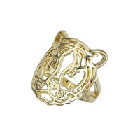 Cut-Out Lion Ring - Gold