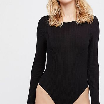 Natalie Longsleeve Scoop Back Bodysuit