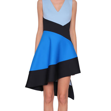 David Koma Color-block asymmetric dress