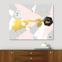 «Gold Splatter», Limited Edition Canvas Print by Uma Gokhale - From $75 - Curioos