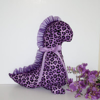 Purple Animal Print Dino Dinosaur Christmas Stocking or Baby Shower Plush Softie