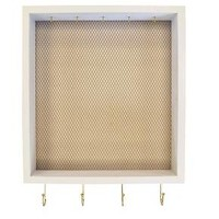 """Cubby with Hooks & Wire Mesh 12""""x20"""" - White"""