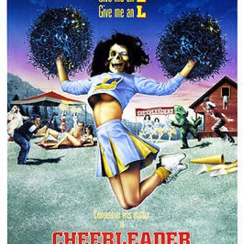 CHEERLEADER CAMP movie poster SCARY TWISTED MURDER pom poms GIRLY 24X36