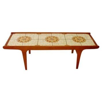 Pre-owned Mid-Century Modern Tiled Coffee Table