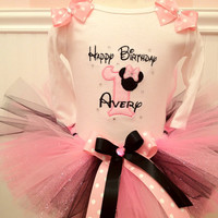 Minnie Mouse Inspired First Birthday Tutu