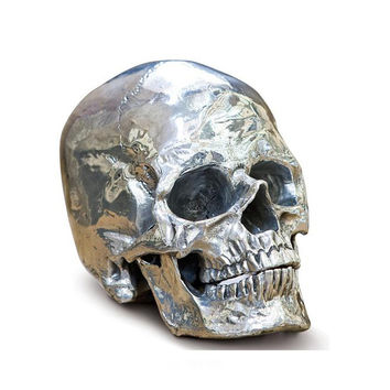 Metal Skull Sculpture