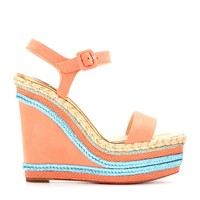 NEW DUPLICE 120 NUBUCK ESPADRILLE WEDGE SANDALS