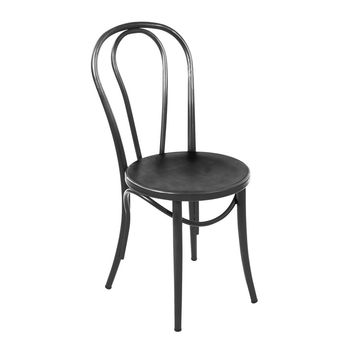 Thonet Style Black Steel Side Chair (Set of 2)