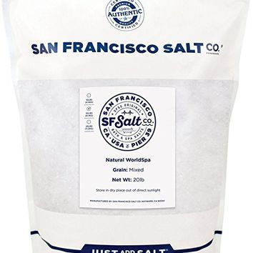 Worldspa Bath Salts 20 lb. Bulk Bag - A Blend of Pacific Sea Salt, Dead Sea Salt & European...