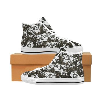 Dice and Spades Skulls Vancouver High Top Canvas Men's Shoes