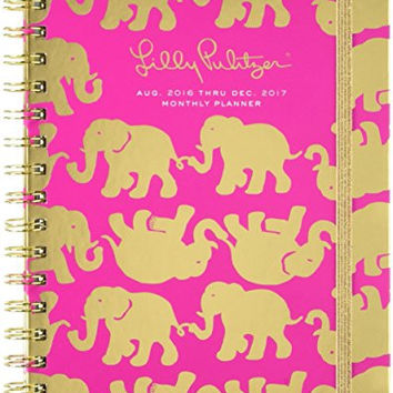 Lilly Pulitzer  2016-2017 17 Month Large Agenda, Tusk in Sun, Magenta (162426)