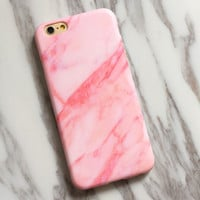 Pink Marble iPhone 7 7Plus & iPhone se 5s 6 6 Plus Case Best Protection Cover +Gift Box-516
