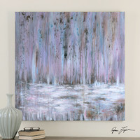 Showers Of Purple Hand Painted Art