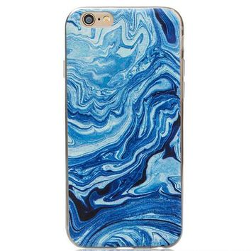 Natural Blue Marble Grain iPhone 7 se 5s 6 6s Plus Case Gift-129-170928