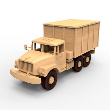 Wooden Truck Model Plans for DIY #04. PDF digital file