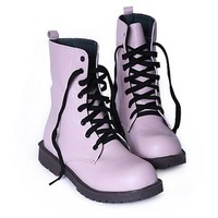 Round Toe Short Boots with Lace up Closure