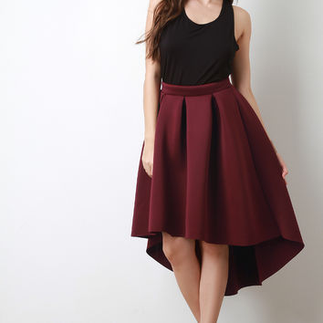 Shop Box Pleated Skirt on Wanelo
