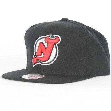 Mitchell & Ness New Jersey Devils NHL Vintage Wool Solid NZ980 Snapback Hat