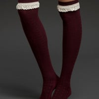 Over-The-Knee Lace Trim Socks