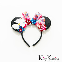 Lilo and Stitch Mouse Ears Headband, Lilo and Stitch Birthday, Lilo and Stitch Party, Lilo and Stitch Dress, Disney Bound, Disney World