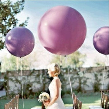 5pcs/lot 36 Inch Super Big Large Wedding Decoration Birthday Party Ballons Thickening Multicolor Latex giant huge Balloon [8403802951]