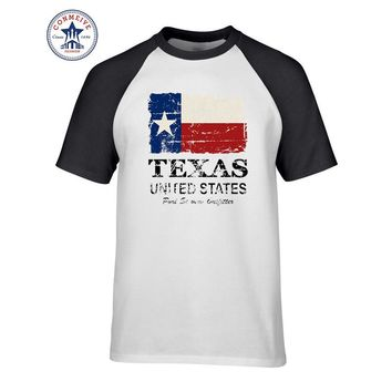 2017 Hipster Basic Tops Funny cotton USA America Texas Flag T Shirt for men