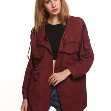 Burgundy Fall Fashion Jacket