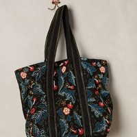 Wildling Tote by Pia Pauro Black Motif One Size Bags