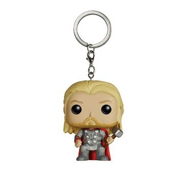 Marvel The Avengers Thor Keychain Action Figures Toy Doll with Hammer Retail Box