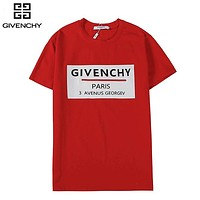Givenchy New fashion letter print couple top t-shirt Red
