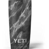 Black and Chalky White Marble Yeti Rambler Skin Kit