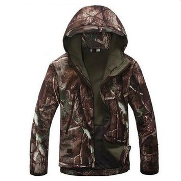 Lurker Shark Skin Soft Shell V5.0 Outdoors Military Tactical Jacket Waterproof Windproof Hunter Camouflage Army Clothing