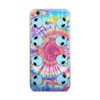 Middle Finger Alien Tie Dye Bleach Cute Girly Girls iPhone 4 4s 5 5s 5C 6 6s 6 Plus 6s Plus 7 & 7 Plus Case