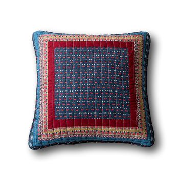 Tache Vineyard Cottage Floral Quilted Pillow Cover Patchwork 2 Pieces Cushion Covers (JHW-827-18X18-2PC)