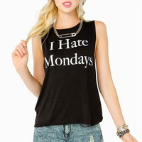 I Hate Mondays Muscle Tank