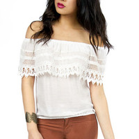 Carrie Crochet Top $50