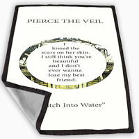 Pierce The Veil Song Lyrics Blanket for Kids Blanket, Fleece Blanket Cute and Awesome Blanket for your bedding, Blanket fleece *