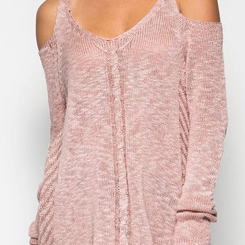 Cold Shoulder Sweater - 3 Options