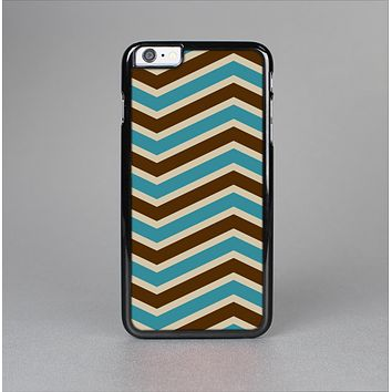 The Vintage Wide Chevron Pattern Brown & Blue Skin-Sert for the Apple iPhone 6 Skin-Sert Case