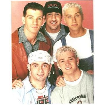 Nsync 90's poster Metal Sign Wall Art 8in x 12in