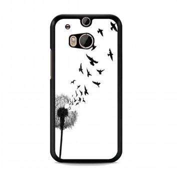 dandelion bird tattoo For HTC One M8 case