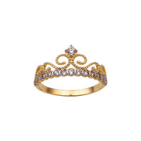 Crown 14k Solid Gold Ring