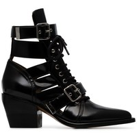 Chloé Black Reilly 60 Buckle Embellished Ankle Boots - Farfetch